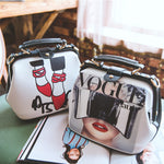 Cartoon Pattern Rivets Bags