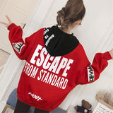 Escape from Standard Printed Hoodies