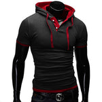 Men's T Shirt 2019 Summer Slim Fitness Hooded