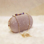 Bridal Metal Bow Clutch Bag