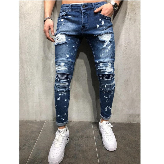 Men Stylish Ripped Jeans Pants
