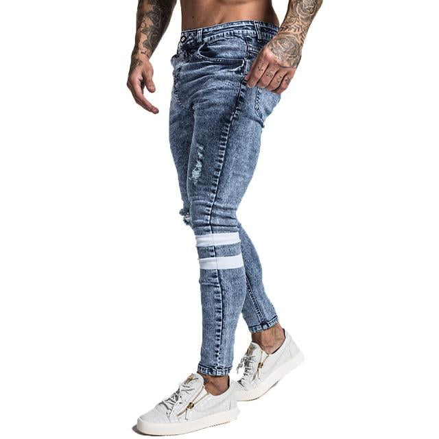 Mens Skinny Jeans Slim Fit Ripped