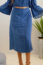Load image into Gallery viewer, Boho Blue Midi Skirt - Evening Primrose Boutique