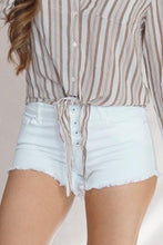 Load image into Gallery viewer, Celebrity Pink Sofia White Button Shorts W/ Fray Hem Sizes 1-11 - Evening Primrose Boutique