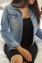 Load image into Gallery viewer, Cool Nights Light Blue Denim Jacket