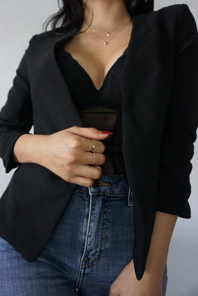 Boss babe black Lightweight blazer FOXXI Fashion Boutique