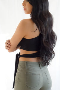 Sun Kissed One Shoulder Waist Tie Crop Top