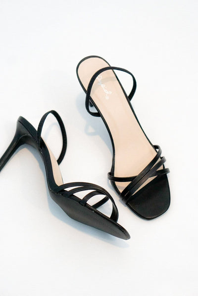 Elle Slingback Black Heels - Evening Primrose Boutique