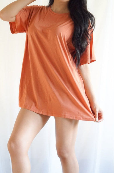 Terracotta boyfriend tee FOXXI Fashion Boutique