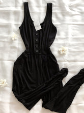 Load image into Gallery viewer, Relaxed Black Button Jumpsuit
