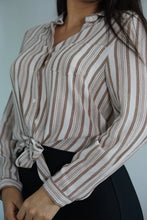 Load image into Gallery viewer, Sahara Long Sleeve Front Tie Button Blouse-Blouse-Evening Primrose Boutique