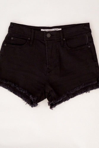 Celebrity Pink Nova Black Fray Hem High Rise Shorts Sizes 1-11 - Evening Primrose Boutique