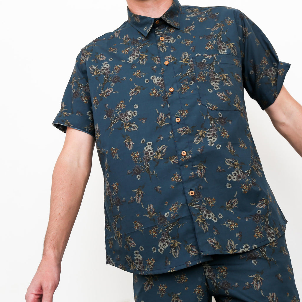 "Firo Shirt in ""Midnight Garden"""