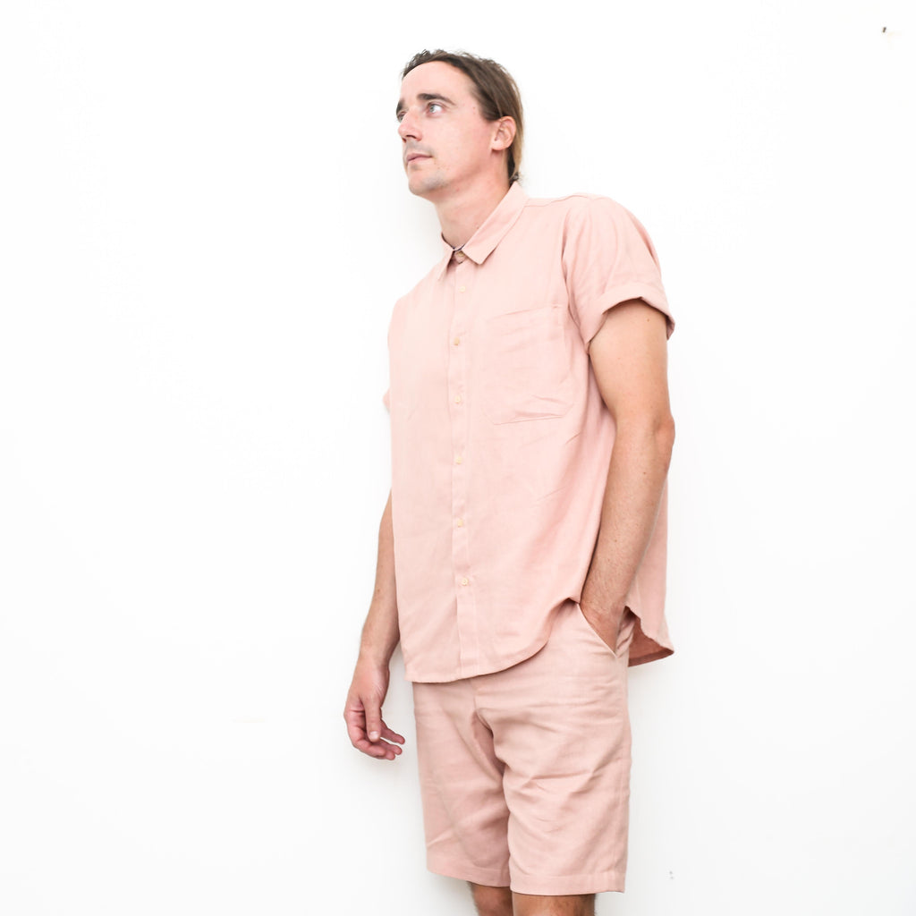 "Firo Shirt in ""Rose Linen"""