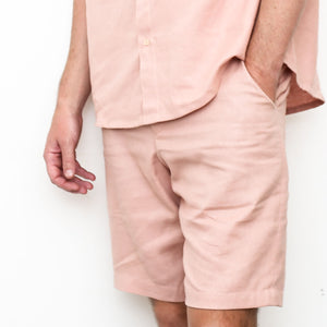 "Firo Shorts in ""Rose Linen"""