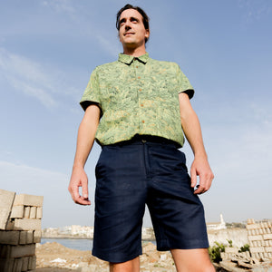 "Firo Shorts in ""Navy Linen"""