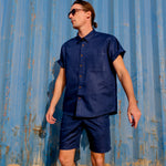 "Firo Shirt in ""Navy Linen"""