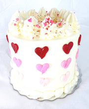 Load image into Gallery viewer, Mini Hearts Valentine's Cake