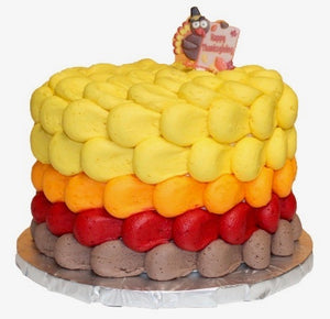 Thanksgiving turkey colored cake