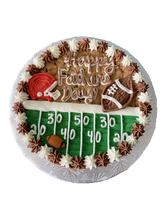 Load image into Gallery viewer, football cookie cake