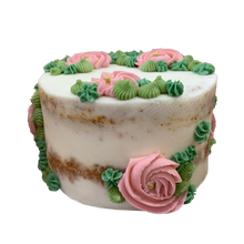 Load image into Gallery viewer, floral naked cake