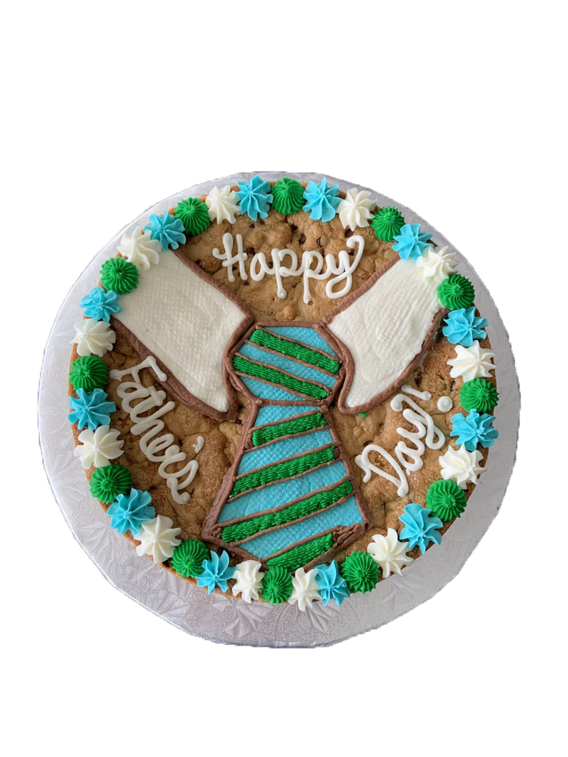 tie cookie cake