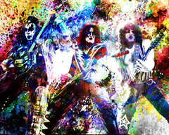 KISS Art - Gene Simmons, Ace Frehley, Paul Stanley