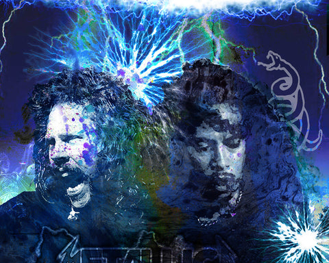 Metallica Art - James Hetfield and Kirk Hammett
