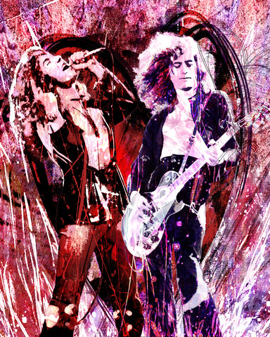 Led Zeppelin Art - Page and Plant