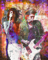 Rolling Stones Art - Mick Jagger and Keith Richards