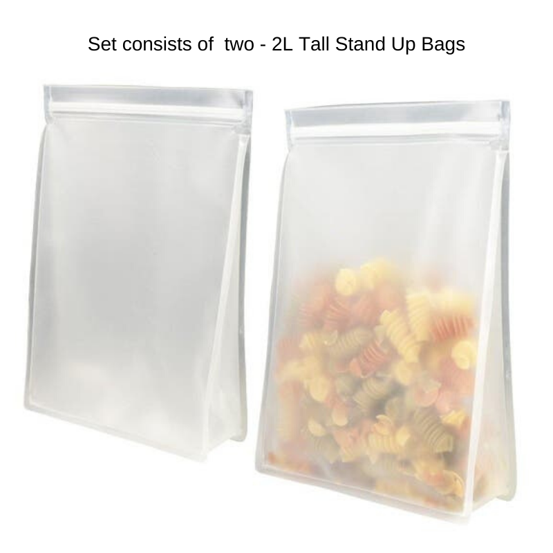 Reusable Tall Stand Up Bag, Set of 2
