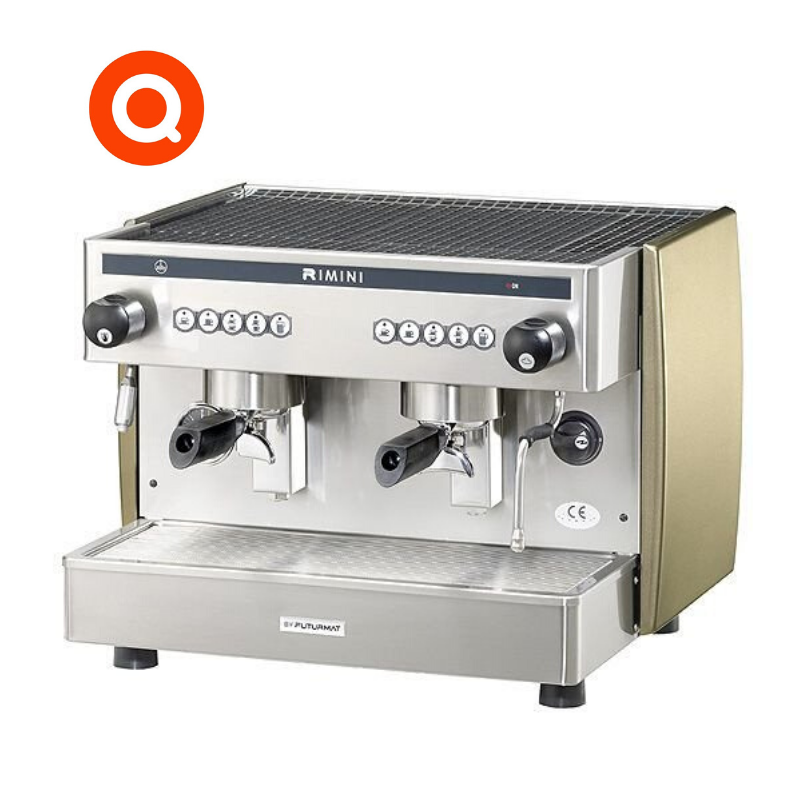 Quality Espresso Rimini Compact 2 Group commercial coffee machine