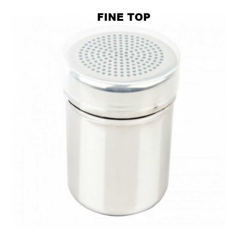 Stainless Steel chocolate shaker for cappuccino topping fine top