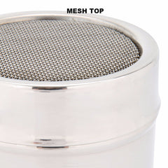 Stainless Steel chocolate shaker for cappuccino topping mesh top