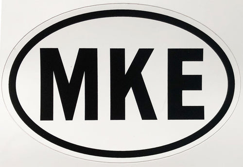 MKE Decal Euro Oval Country Code Sticker