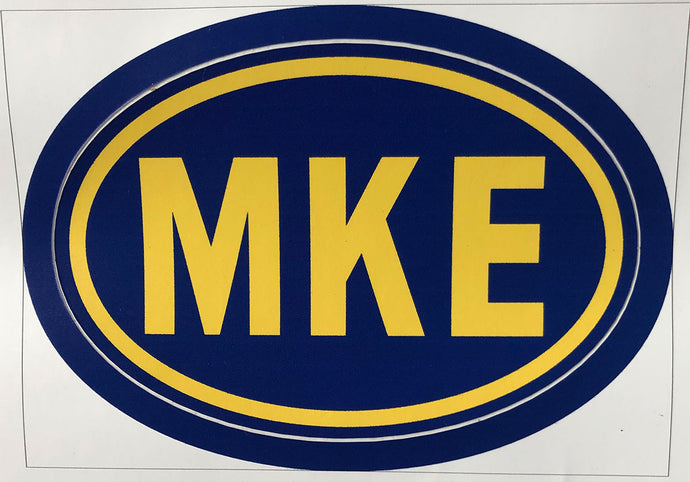 MKE Decal Euro Oval Country Code Sticker - Blue