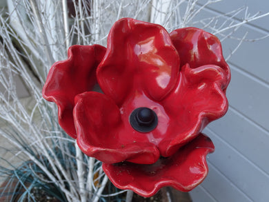 Hand-Made (Clay) Poppies