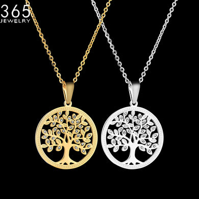 Tree Of Life Pendant Necklace (100% Stainless Steel)