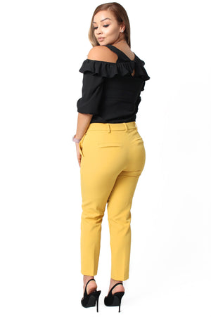 Anne Ankle Pants - Mustard