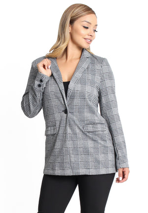 Violet Plaid Blazer