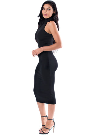 Kim Turtleneck Midi Dress