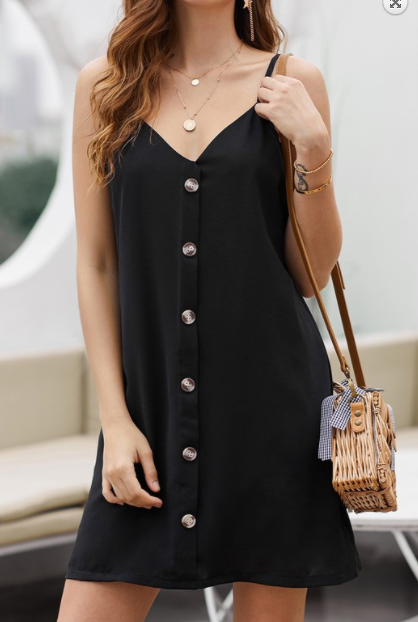 Give Me Sun Button Down Cami Dress