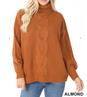 Turtleneck Balloon Sleeve Sweater (more colors)