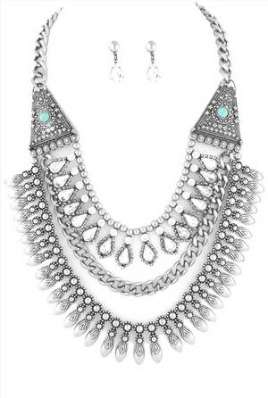 Aurora Bib Necklace Set