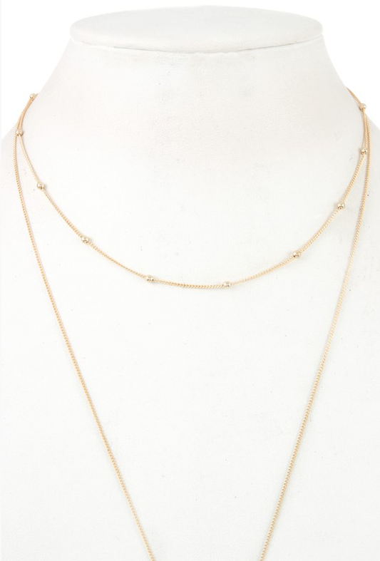 Luna Double Chain Necklace