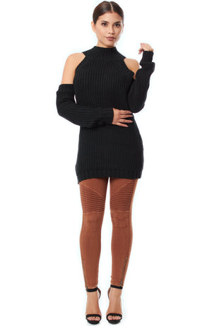 Zoe Turtleneck Sweater - Black