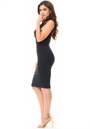 Juliet Midi Dress - Black