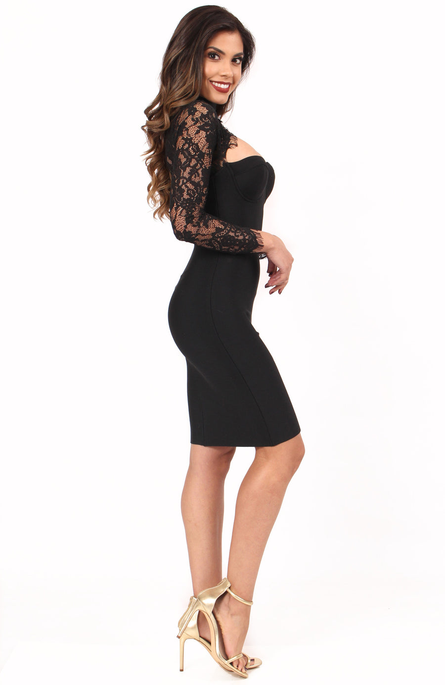 Endless Love Bandage Dress- Black