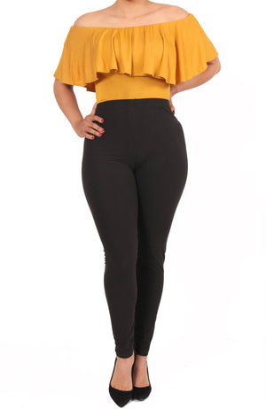 Amber Hi Waisted Leggings - One Size