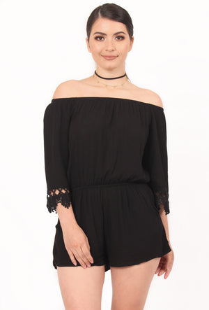 Gabriela Off the Shoulder Romper